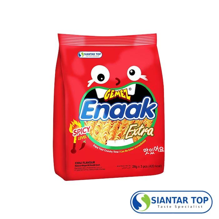 Enaak 重量版香辣味大雞點心麵 (28g×3小包/袋) 重量版辣味點心麵 辣味小雞麵 小雞麵 隨手包 點心麵