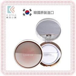 韓國 LANEIGE 蘭芝 BB Cushion Anti-aging 超緊顏光潤氣墊粉霜 15g + 補充包 15g (1+1超值組) 菱格紋奢金粉餅
