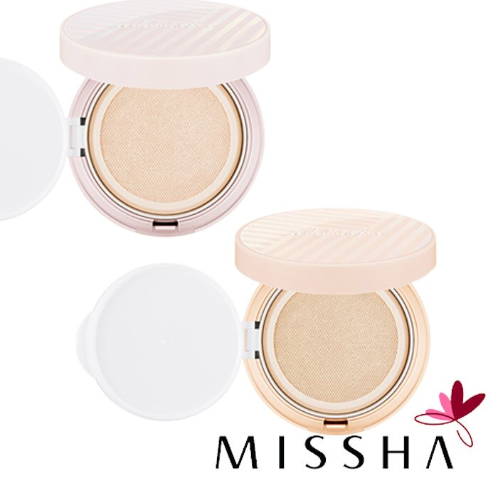 韓國 MISSHA 水光肌網狀氣墊粉餅 橘色遮瑕   米色自然 14g 氣墊粉餅 底妝 粉