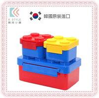 野餐盒不可缺單品【 OXFORD 】 韓國積木便當盒 便當盒 野餐盒 三件組