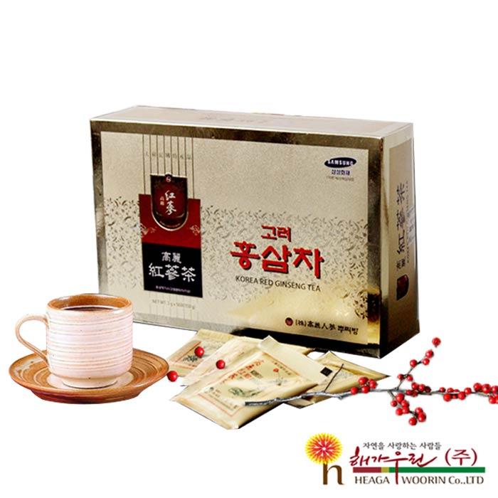 【韓流小舖】 韓國原裝 高麗紅蔘茶 (3g×100包/盒) 年節禮盒 人蔘禮盒 最佳孝親禮盒 養生禮盒