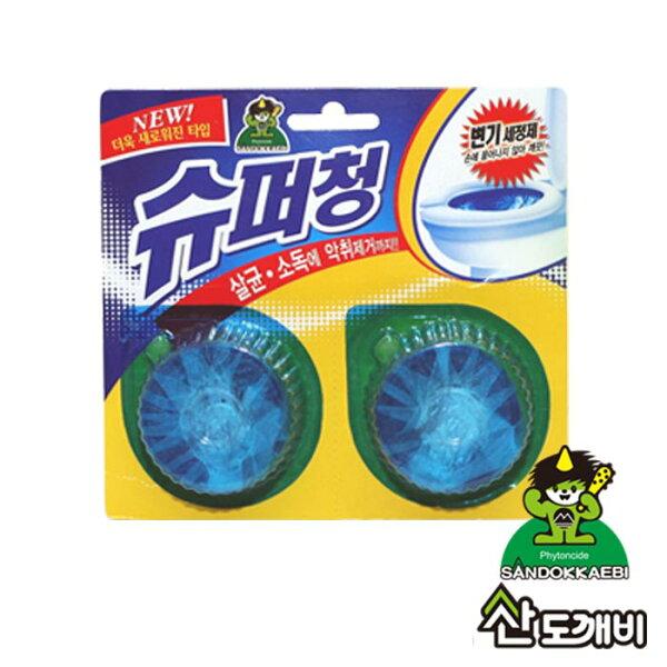 韓國SANDOKKAEBI小鬼怪馬桶水箱殺菌消臭錠(40g×2入卡)