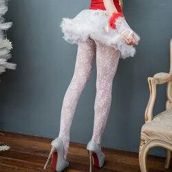 台灣褲襪 白色褲襪性感絲襪 嫵媚立體花紋顯瘦美腿性感褲襪-流行E線B169