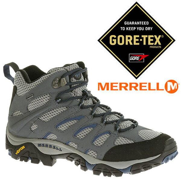 MERRELL 男 GORE-TEX 高筒戶外多功能鞋 深灰/藍 ML65261 防水登山鞋│健行鞋│休閒鞋
