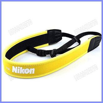 For Nikon 尼康 數位相機專用減壓背帶,黃色版【防滑設計,寬版加厚設計】單眼相機肩帶-20604