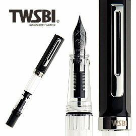 臺灣 TWSBI 三文堂 ECO 黑色活塞上墨鋼筆   支