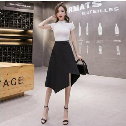 不規則夏季時尚裙子A字裙半身裙女高腰顯瘦夏裝2021新款中長款 3C數位百貨