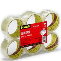 3M,3m膠帶推薦到3M Scotch 透明膠帶 48mmX90yd (6入/包)