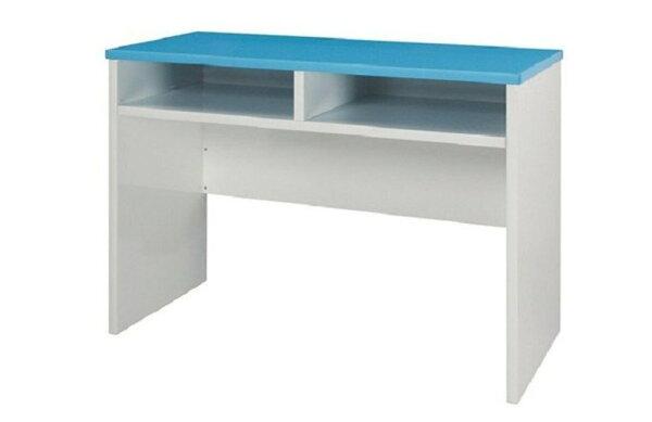 石川家居:【石川家居】932-15(藍白色)書桌(CT-408)#訂製預購款式#環保塑鋼P無毒防霉易清潔