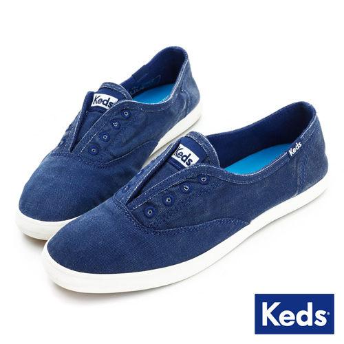 【Keds】 水洗樂活帆布鞋(海軍藍)