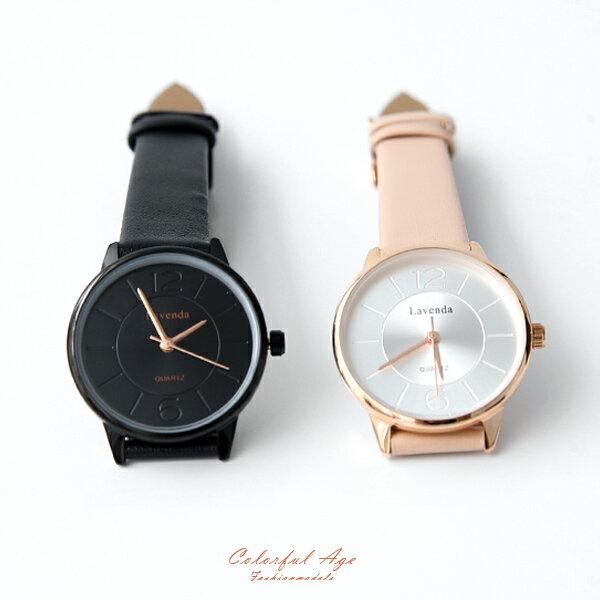 手錶 正韓Lavenda隱藏刻度小巧腕錶【NEK38】 柒彩年代