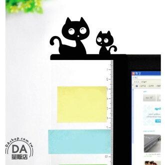《DA量販店》可愛電腦側邊留言板 壓克力螢幕便利貼 備忘便利貼板 雙貓左側(V50-1327)