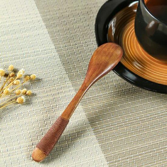 ♚MYCOLOR♚日式木質湯匙勺子實用餐具家用調羹創意手工甜品咖啡蜂蜜小湯勺調味【J114】
