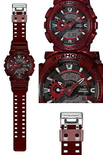國外代購 CASIO G-SHOCK 炫光金屬街頭-紅 GA-110NM-4A   防水 手錶 腕錶 電子錶 3