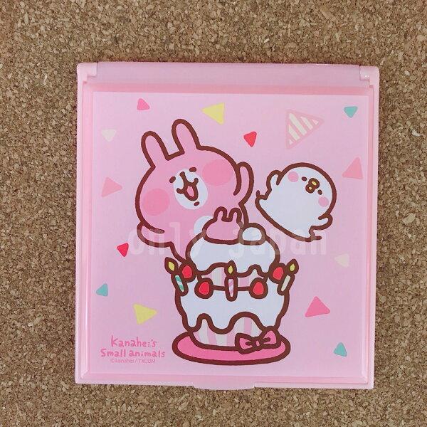 【真愛日本】18060700016摺疊小方鏡-卡娜赫拉蛋糕卡娜赫拉的小動物們兔兔P助小雞方鏡摺疊鏡隨身鏡化妝鏡