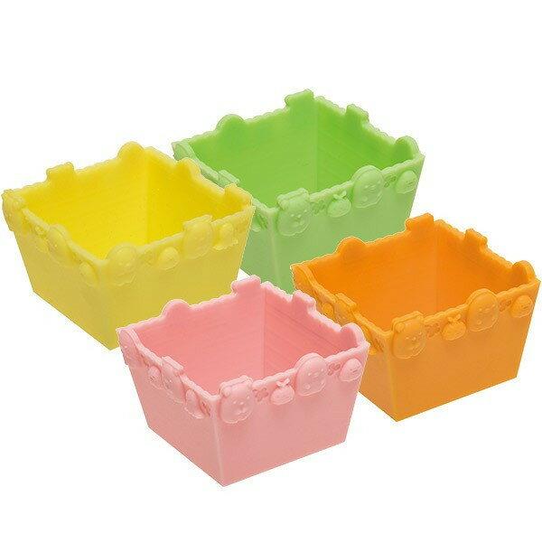 X射線【C635516】角落公仔 食物分裝杯(4入) ,食物分裝盒/廚房/食物杯/副食品儲存杯/廚房雜貨
