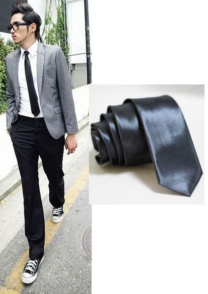 ★草魚妹★素色窄版手打領帶5cm英倫潮流領結,直購價69元