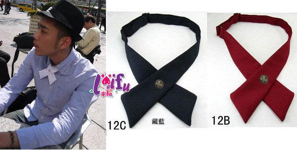 草魚妹:★草魚妹★K399銅釦超多色十字交叉領結領帶糾糾,售價120元