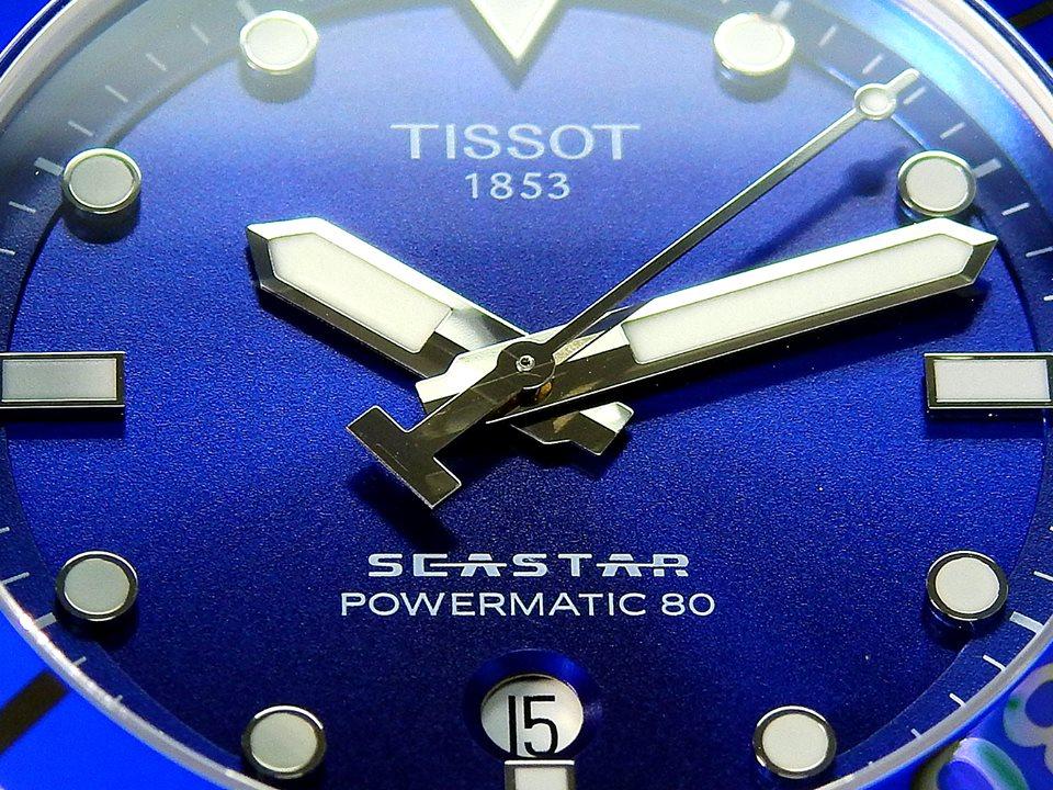 TISSOT 天梭 T1204071104100 Seastar 1000 海洋之星300米潛水機械錶 藍 43mm 4