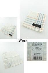 【iWork】10021《DAKS》經典格紋攜帶方便小方巾 ,質感細緻、輕盈、漂亮,顏色白色格紋[經典、格紋、小方巾、方便、好用]
