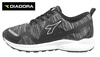 【巷子屋】義大利國寶鞋-DIADORA迪亞多納 女款寬楦記憶鞋墊超輕潮流慢跑鞋 [3770] 黑 超值價$826