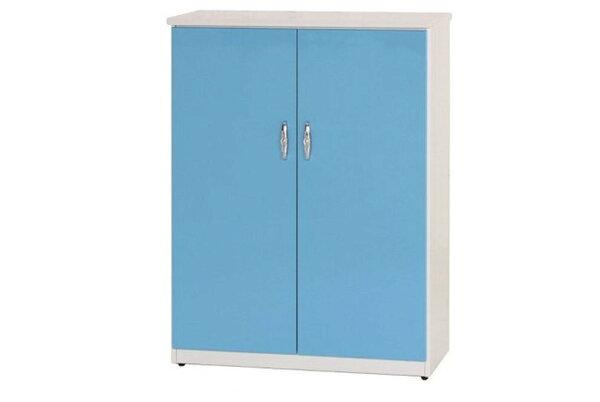 石川家居:【石川家居】855-06(藍白色)鞋櫃(CT-311)#訂製預購款式#環保塑鋼P無毒防霉易清潔