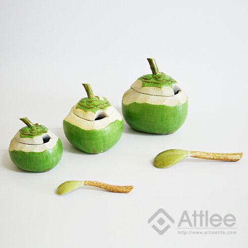 Attlee椰子造型系列特製湯匙(小)創意甜品/造型容器/甜品碗/禮品/陶瓷/蓋碗/布丁/果凍