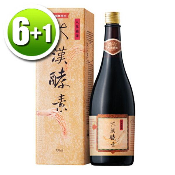 【買6送即期2019年1月x1瓶】大漢酵素人蔘蔬果植物醱酵液(720ml瓶)x6