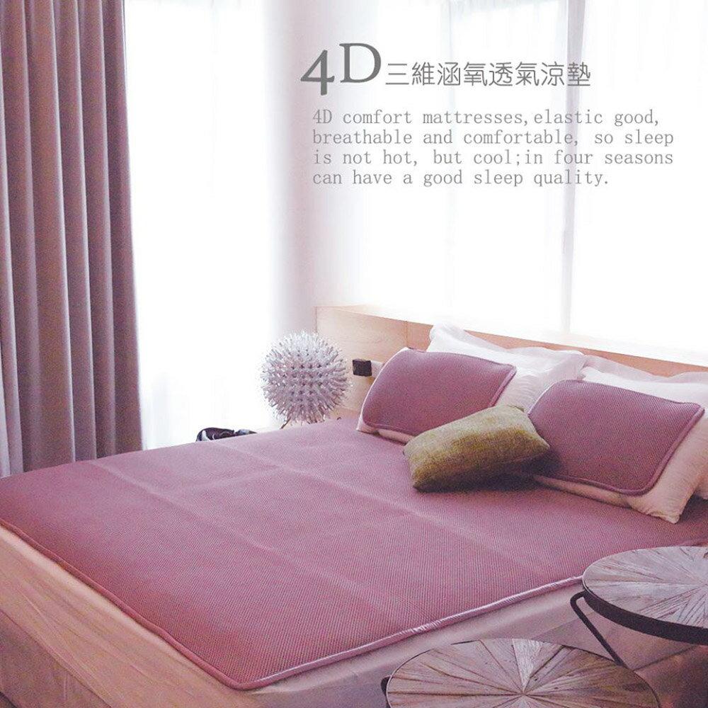 三維涵氧專利4D舒適透氣可機洗單人涼墊(90x186)贈枕套1入