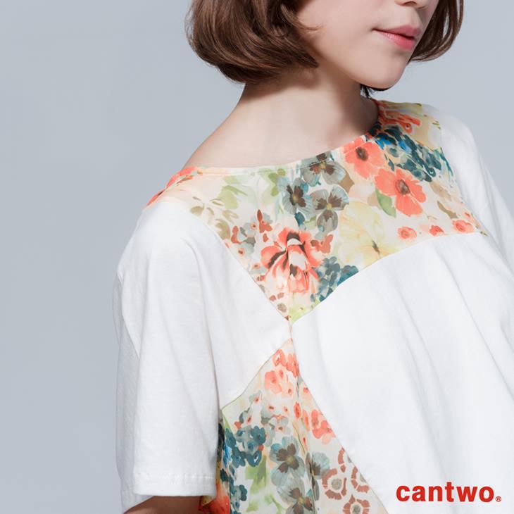 cantwo拼接印花長版T(共二色) 4