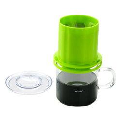 金時代書香咖啡 Tiamo UFO-180圓錐濾器獨享杯-翠綠色320cc 免用濾紙 HG2325