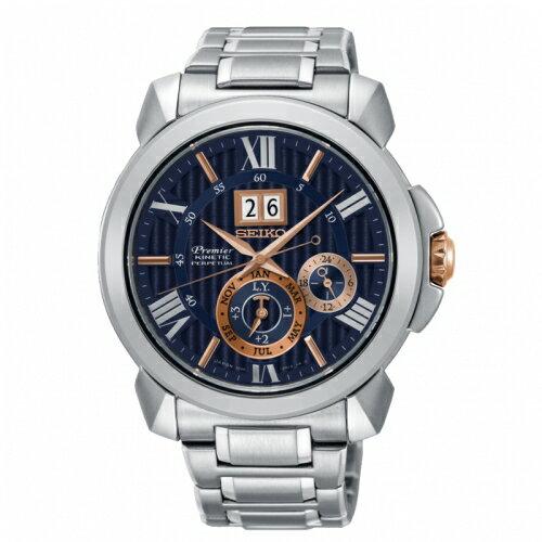 SEIKOPremier廣告款人動電能自動追時萬年曆腕錶7D56-0AE0ASNP153J1