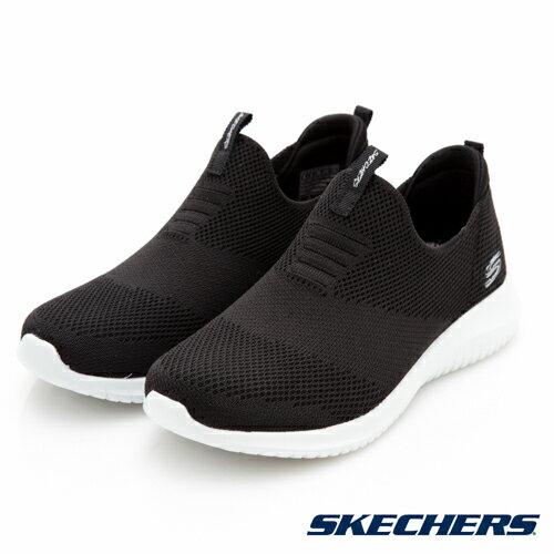 SKECHERS女運動鞋GoUltraFlex(黑)健走系列鞋12837BKW【胖媛的店】