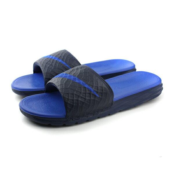 NIKE 拖鞋 深藍色 男女鞋 no399