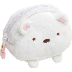日貨 角落生物 白熊 零錢包 錢包 收納袋 收納包 絨毛包 化妝包 角落小夥伴 san-x 正版授權 J00015522