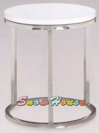 ╭☆雪之屋居家生活館☆╯A266-01電鍍腳雙圓洽談桌/圓桌/餐桌/茶几/置物桌/咖啡桌