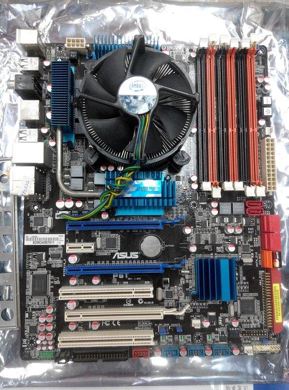 華碩 ASUS X58 P6T 主機板 + i7 920 中古良品 + 金士頓4G-1333 記憶體