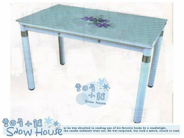 ╭☆雪之屋小舖☆╯T-271P128mm印花玻璃桌造型桌長桌玻璃長桌餐桌休閒桌