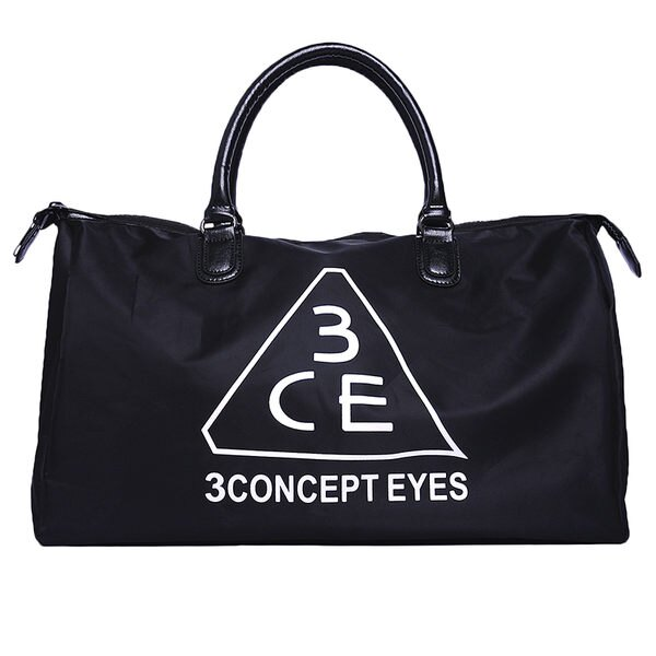 3CE超大有型手提旅行袋包包大容量化妝包 行李包 手提包 【庫奇小舖】