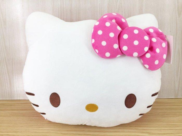 【真愛日本】15123100001 午安枕-圓點桃 KITTY 凱蒂貓 三麗鷗 抱枕 娃娃 靠枕 午安枕