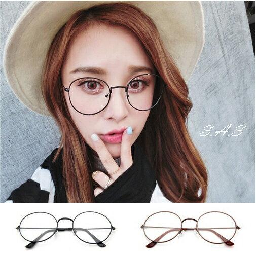 金屬框眼鏡 鏡框 鏡架 細框眼鏡 平光眼鏡 復古眼鏡 文青眼鏡 小清新風格眼鏡 無度數眼鏡 造型眼鏡 375