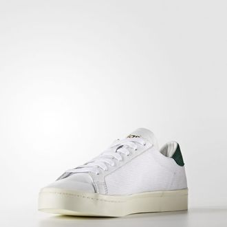 Adidas Originals Court Vantage 男鞋 女鞋 休閒鞋 網布 白 綠 【運動世界】 S76198