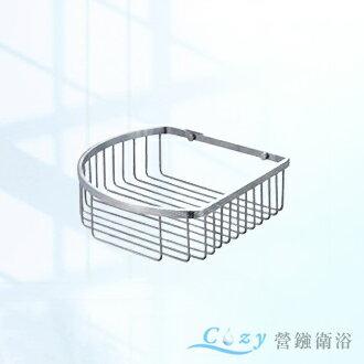 浴室廚房配件單層轉角置物網籃 香皂盤 衛生紙架 置衣架 毛巾架 浴室配件 304不鏽鋼(砂光) 圓弧造型簡約大方YC-809