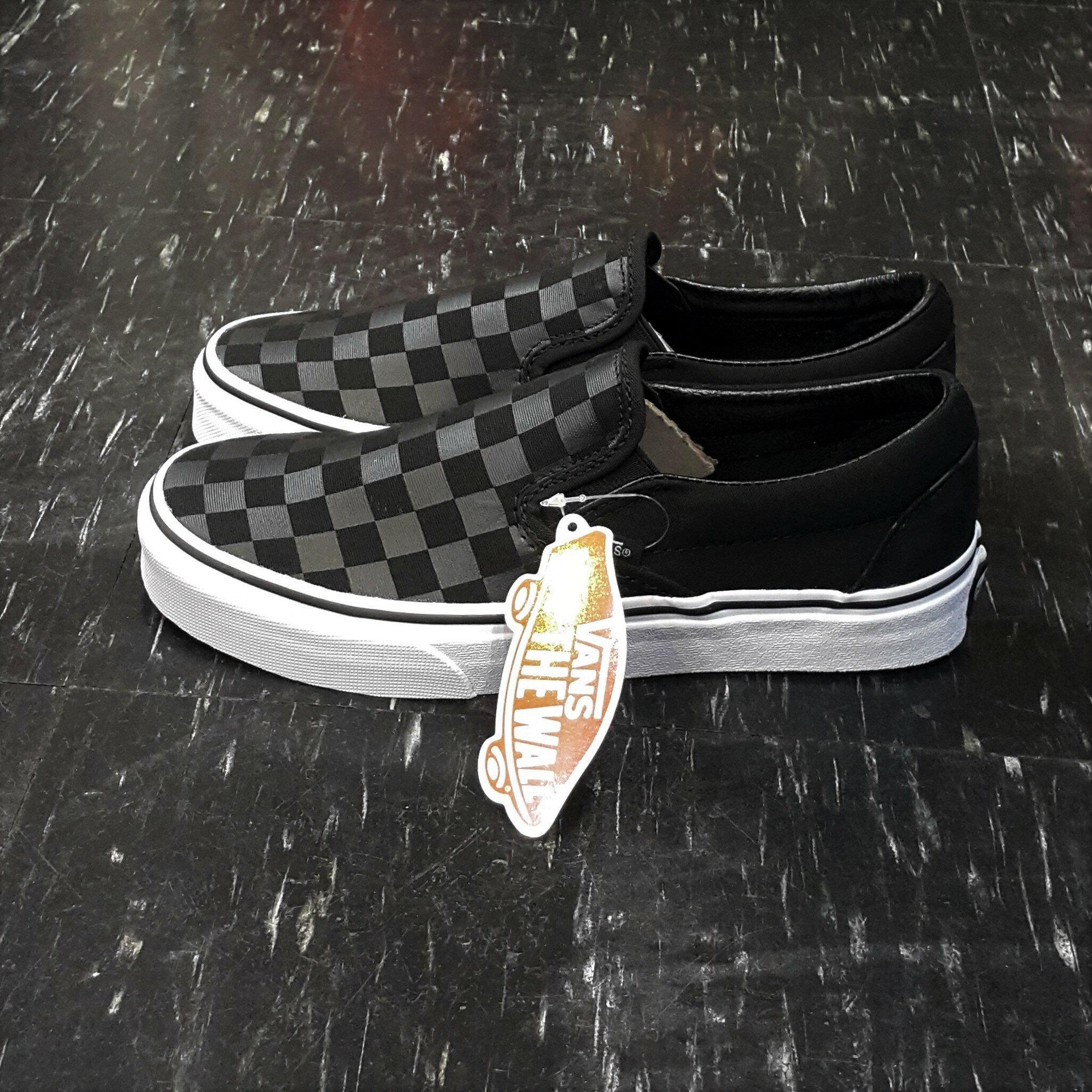 VANS Classic Slip On Checkerboard Black/Black 棋盤格 懶人鞋 黑白 黑色 白色 全黑 方格