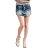 褲裙--時尚層次感鑽釦斜拉鍊裝飾設計氣質纖細顯瘦牛仔褲裙(S-7L)-R107眼圈熊中大尺碼 1