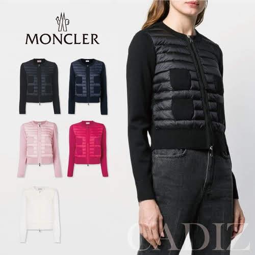 預購 義大利正品 Moncler knitted sleeve quilted jacket 多色拼接羽絨外套