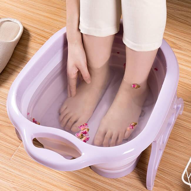 【LILS】折疊式SPA滾輪泡腳桶 可折疊收納 不佔空間 出國露營SPA滾輪泡腳桶 【送泡腳包一包】 2