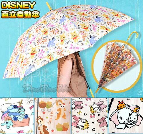 迪士尼米奇米妮維尼史迪奇瑪莉貓小飛象奇蒂直立自動雨傘072615海渡