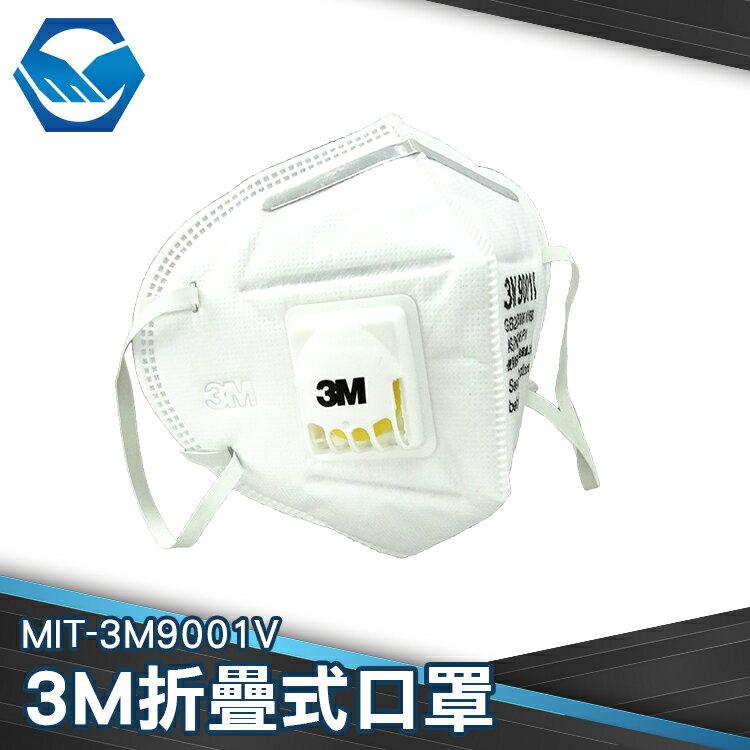 工仔人 3M防塵口罩 防霧霾 摺疊頭戴式N95 防工業粉塵 透氣 防PM2.5 有呼吸閥MIT-3M9001V