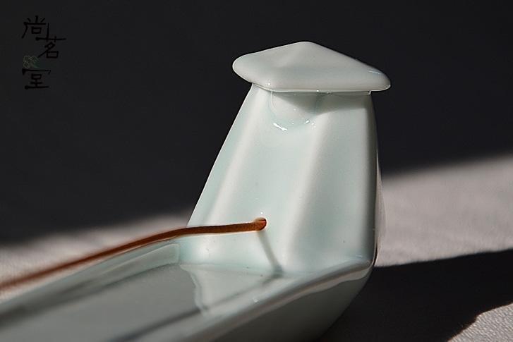 陶瓷創意漁翁檀釣香插熏香爐檀香熏用品居家擺件